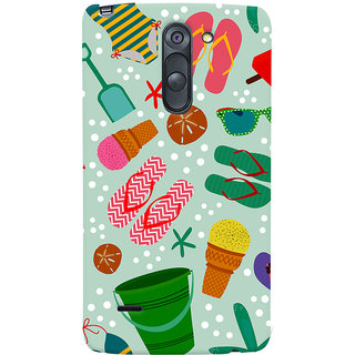 Oyehoye LG G3 Stylus / Optimus G3 Stylus Mobile Phone Back Cover With Beach Time Pattern - Durable Matte Finish Hard Plastic Slim Case