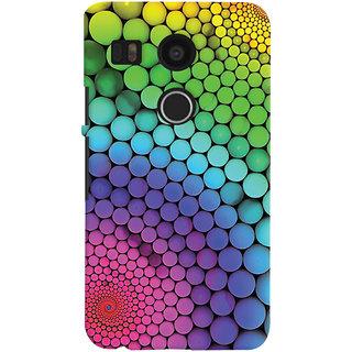 Oyehoye LG Google Nexus 5X Mobile Phone Back Cover With Colourful Pattern Style - Durable Matte Finish Hard Plastic Slim Case