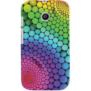 Oyehoye Motorola Moto E Mobile Phone Back Cover With Colourful Pattern Style - Durable Matte Finish Hard Plastic Slim Case