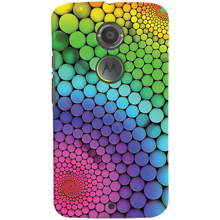 Oyehoye Motorola Moto X2 Mobile Phone Back Cover With Colourful Pattern Style - Durable Matte Finish Hard Plastic Slim Case