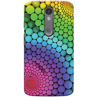 Oyehoye Motorola Moto X Force Mobile Phone Back Cover With Colourful Pattern Style - Durable Matte Finish Hard Plastic Slim Case