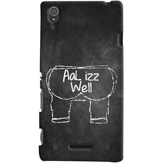 Oyehoye Sony Xperia T3 Mobile Phone Back Cover With Aal Izz Well Quirky - Durable Matte Finish Hard Plastic Slim Case