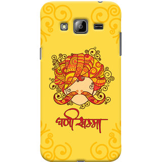 Oyehoye Samsung Galaxy J3 Mobile Phone Back Cover With Ghani Khamma Rajasthani Style - Durable Matte Finish Hard Plastic Slim Case