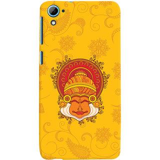 Oyehoye HTC Desire 826/Dual Sim Mobile Phone Back Cover With Kathakali Dance Face - Durable Matte Finish Hard Plastic Slim Case