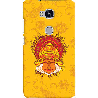 Oyehoye Huawei Honor 5X / Dual Sim Mobile Phone Back Cover With Kathakali Dance Face - Durable Matte Finish Hard Plastic Slim Case