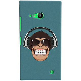 Oyehoye Microsoft Lumia 730 / Dual Sim Mobile Phone Back Cover With Music Lover Quirky Style - Durable Matte Finish Hard Plastic Slim Case