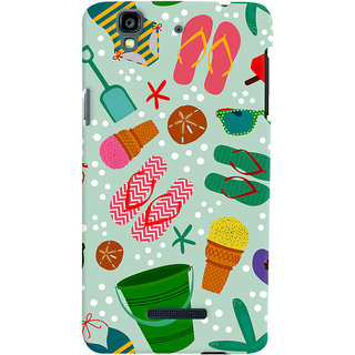 Oyehoye Micromax Yureka Plus Mobile Phone Back Cover With Beach Time Pattern - Durable Matte Finish Hard Plastic Slim Case