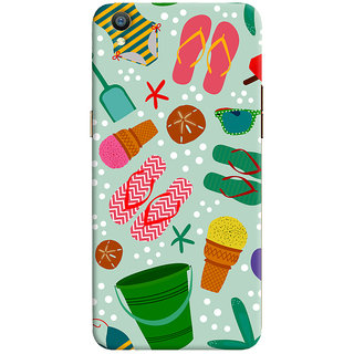 Oyehoye Oppo F1 Plus Mobile Phone Back Cover With Beach Time Pattern - Durable Matte Finish Hard Plastic Slim Case