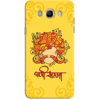 Oyehoye Samsung Galaxy J7 (2016) Mobile Phone Back Cover With Ghani Khamma Rajasthani Style - Durable Matte Finish Hard Plastic Slim Case