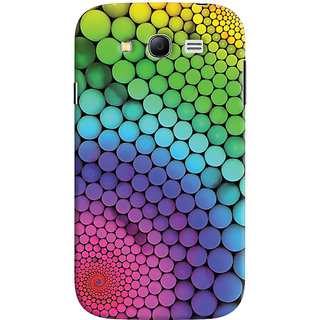 Oyehoye Samsung Galaxy Grand Neo Plus Mobile Phone Back Cover With Colourful Pattern Style - Durable Matte Finish Hard Plastic Slim Case