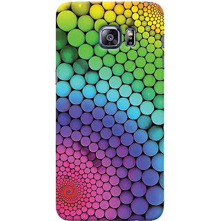 Oyehoye Samsung Galaxy S6 Edge Plus Mobile Phone Back Cover With Colourful Pattern Style - Durable Matte Finish Hard Plastic Slim Case