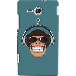 Oyehoye Sony Xperia SP Mobile Phone Back Cover With Music Lover Quirky Style - Durable Matte Finish Hard Plastic Slim Case