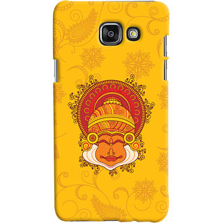 Oyehoye Samsung Galaxy A7 A710 (2016 Edition) Mobile Phone Back Cover With Kathakali Dance Face - Durable Matte Finish Hard Plastic Slim Case