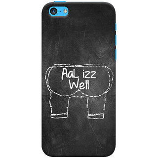 Oyehoye   5S Mobile Phone Back Cover With Aal Izz Well Quirky - Durable Matte Finish Hard Plastic Slim Case