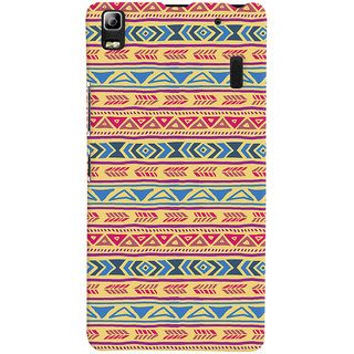 Oyehoye Lenovo A7000 Mobile Phone Back Cover With Indian Pattern - Durable Matte Finish Hard Plastic Slim Case