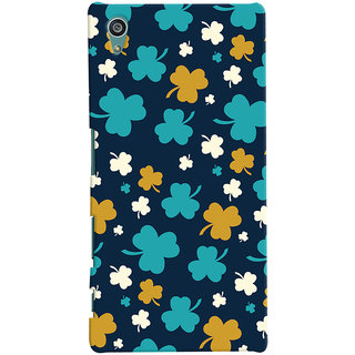 Oyehoye Sony Xperia Z5 Mobile Phone Back Cover With Floral Pattern - Durable Matte Finish Hard Plastic Slim Case