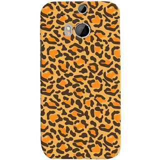 Oyehoye HTC One M8 Mobile Phone Back Cover With Animal Print - Durable Matte Finish Hard Plastic Slim Case