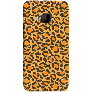 Oyehoye HTC One M9 Mobile Phone Back Cover With Animal Print - Durable Matte Finish Hard Plastic Slim Case