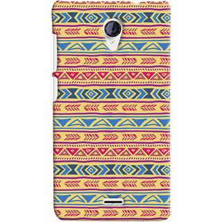 Oyehoye Micromax Unite 2 A106 Mobile Phone Back Cover With Indian Pattern - Durable Matte Finish Hard Plastic Slim Case