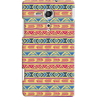 Oyehoye Sony Xperia SP Mobile Phone Back Cover With Indian Pattern - Durable Matte Finish Hard Plastic Slim Case
