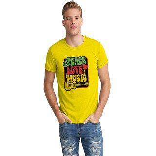 Dreambolic Pease Love Music Half Sleeve T-Shirt