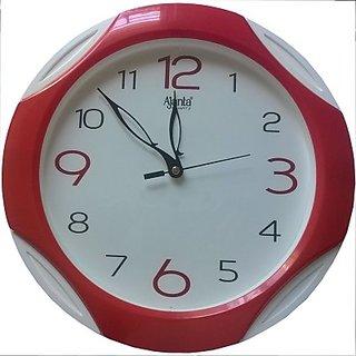 Ajanta red round wall clock