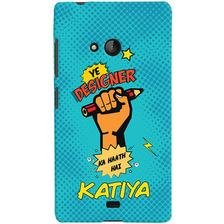 Oyehoye Microsoft Lumia 540 Mobile Phone Back Cover With Designer Ka Haath Katiya Quirky - Durable Matte Finish Hard Plastic Slim Case