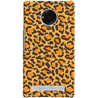 Oyehoye Micromax Yuphoria Mobile Phone Back Cover With Animal Print - Durable Matte Finish Hard Plastic Slim Case