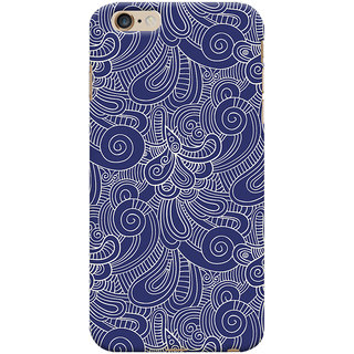 Oyehoye   6S Plus Mobile Phone Back Cover With Blue Abstract Pattern - Durable Matte Finish Hard Plastic Slim Case