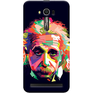 Oyehoye Asus Zenfone 2 Laser ZE550KL / Zenfone 5.5 Mobile Phone Back Cover With Einstein Low Poly Art - Durable Matte Finish Hard Plastic Slim Case