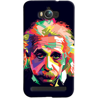 Oyehoye Asus Zenfone Max ZC550KL Mobile Phone Back Cover With Einstein Low Poly Art - Durable Matte Finish Hard Plastic Slim Case