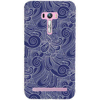 Oyehoye Asus Zenfone Selfie ZD551KL Mobile Phone Back Cover With Blue Abstract Pattern - Durable Matte Finish Hard Plastic Slim Case