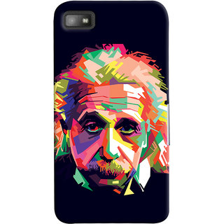 Oyehoye Blackberry Z1O Mobile Phone Back Cover With Einstein Low Poly Art - Durable Matte Finish Hard Plastic Slim Case