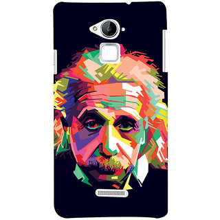 Oyehoye Coolpad Note 3 Mobile Phone Back Cover With Einstein Low Poly Art - Durable Matte Finish Hard Plastic Slim Case