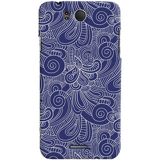 Oyehoye Infocus M530 Mobile Phone Back Cover With Blue Abstract Pattern - Durable Matte Finish Hard Plastic Slim Case