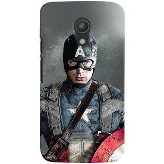 Oyehoye Motorola Moto G2 / Second Generation Mobile Phone Back Cover With Captain America - Durable Matte Finish Hard Plastic Slim Case