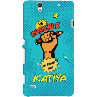 Oyehoye Sony Xperia C4 / Dual Sim Mobile Phone Back Cover With Designer Ka Haath Katiya Quirky - Durable Matte Finish Hard Plastic Slim Case