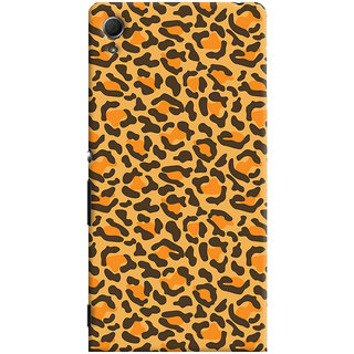 Oyehoye Sony Xperia Z4 Mobile Phone Back Cover With Animal Print - Durable Matte Finish Hard Plastic Slim Case