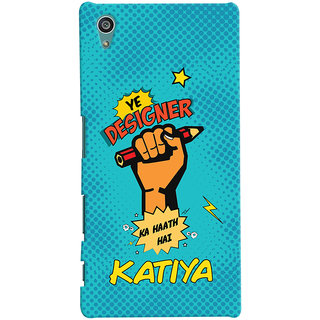 Oyehoye Sony Xperia Z5 Mobile Phone Back Cover With Designer Ka Haath Katiya Quirky - Durable Matte Finish Hard Plastic Slim Case