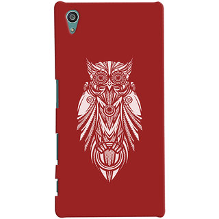 Oyehoye Sony Xperia Z5 Mobile Phone Back Cover With Animal Print Owl - Durable Matte Finish Hard Plastic Slim Case