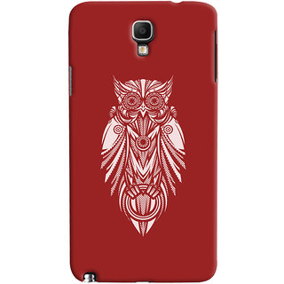 Oyehoye Galaxy Note 3 Neo Mobile Phone Back Cover With Animal Print Owl - Durable Matte Finish Hard Plastic Slim Case
