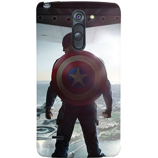 Oyehoye LG G3 Stylus / Optimus G3 Stylus Mobile Phone Back Cover With Captain America - Durable Matte Finish Hard Plastic Slim Case