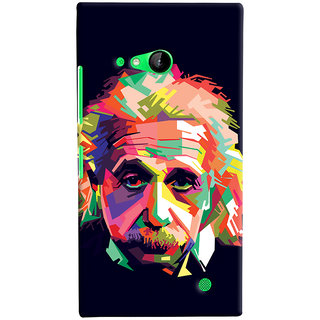Oyehoye Microsoft Lumia 730 / Dual Sim Mobile Phone Back Cover With Einstein Low Poly Art - Durable Matte Finish Hard Plastic Slim Case
