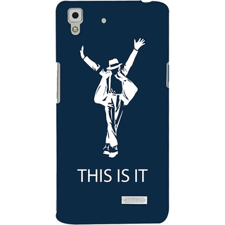 Oyehoye Oppo R7 Mobile Phone Back Cover With This is it Michael Jackson - Durable Matte Finish Hard Plastic Slim Case