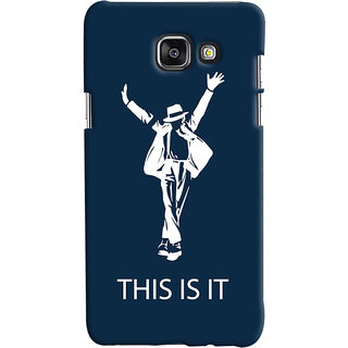 Oyehoye Samsung Galaxy A5 A510 (2016 Edition) Mobile Phone Back Cover With This is it Michael Jackson - Durable Matte Finish Hard Plastic Slim Case