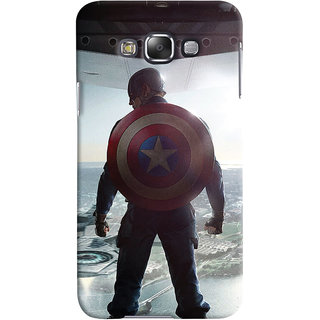 Oyehoye Samsung Galaxy E7 Mobile Phone Back Cover With Captain America - Durable Matte Finish Hard Plastic Slim Case