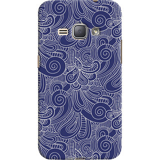 Oyehoye Samsung Galaxy J1 (2016 Edition) Mobile Phone Back Cover With Blue Abstract Pattern - Durable Matte Finish Hard Plastic Slim Case
