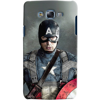 Oyehoye Samsung Galaxy J7 Mobile Phone Back Cover With Captain America - Durable Matte Finish Hard Plastic Slim Case