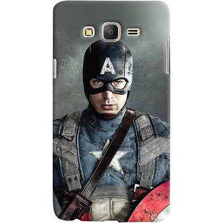 Oyehoye Samsung Galaxy ON5 Mobile Phone Back Cover With Captain America - Durable Matte Finish Hard Plastic Slim Case