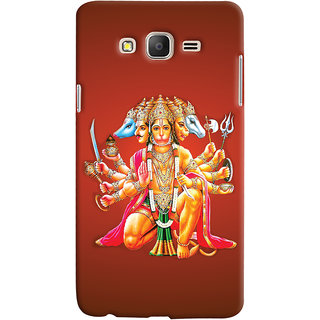 Oyehoye Samsung Galaxy ON5 Mobile Phone Back Cover With Devotional Punch Mukhi Hanuman - Durable Matte Finish Hard Plastic Slim Case